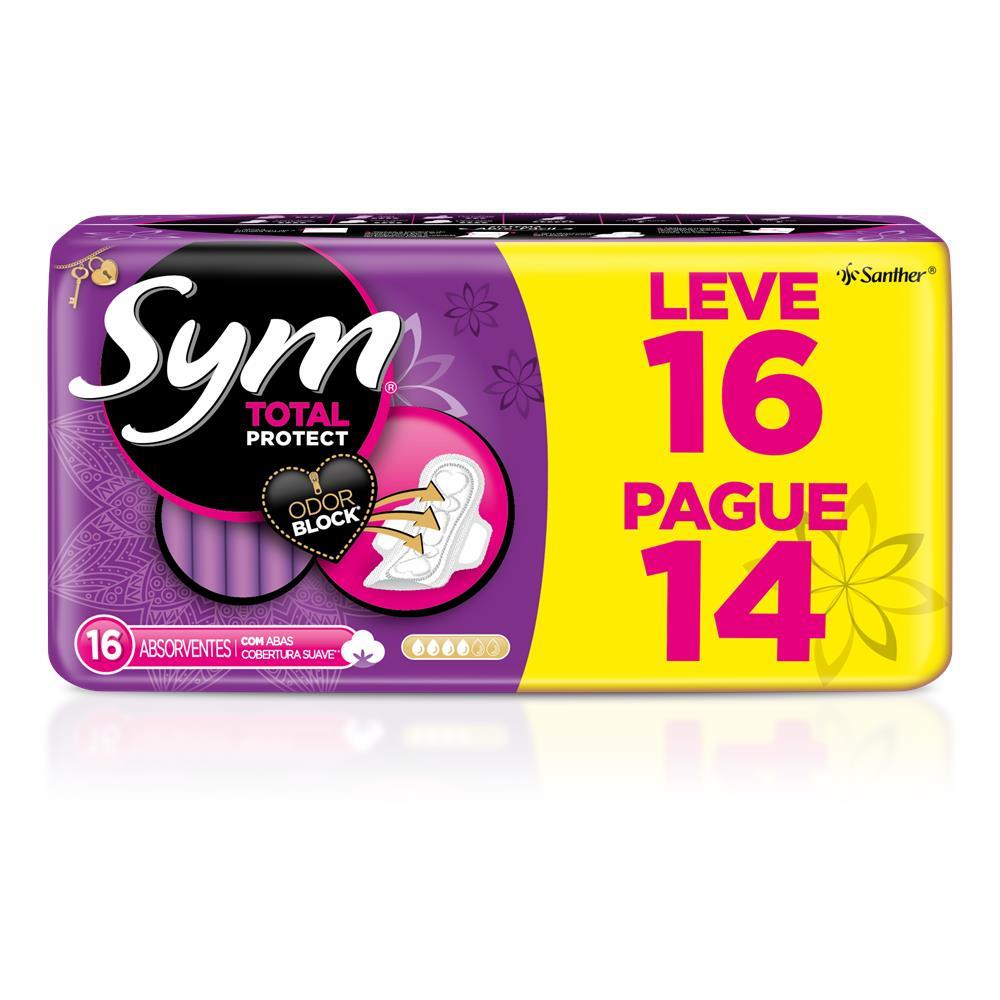 60c20e63d ABSORVENTE SYM LEVE 16 PAGUE 14 COM ABAS COBERTURA SUAVE. - Farmacia ...