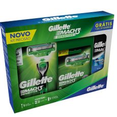 7500435131384---Kit-Aparelho-de-Barbear-Gillette-Mach3-Sensitive---2-Cargas---Gratis-Mini-Gel