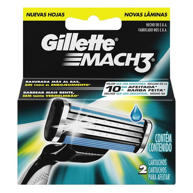 Carga-para-Aparelho-de-Barbear-Gillette-Mach3-2-Unidades