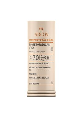 Protetor-Solar-Adcos-FPS70-Stick-Incolor-12g