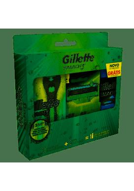 Aparelho-de-Barbear-Gillette-Mach3-Acqua-Grip-Sensitive-2-Cargas-Gel-de-Barbear-Gillette-Mach3-Complete-Defense-72mlAparelho-Barbear-Mach3-Acqua---Carga-2un-Sensitive---Minigel-71g