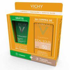 Vichy-Ideal-Soliel-Efeito-Base-Cor-Clara-FPS50-40g-Gel-de-Limpeza-Normaderm-40g