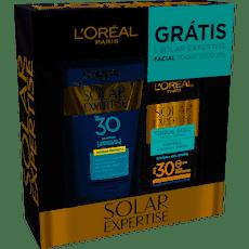 Protetor-Solar-L-oreal-Expertise-FPS30-120ml-Protetor-Solar-Facial-L-oreal-Expertise-FPS30-25g-Gratis