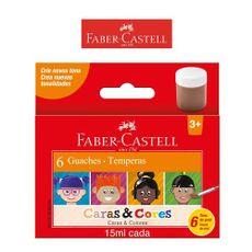 Tinta-Guache-Faber-Castell-15ml-Caras---Cores-6-Cores