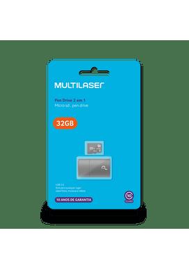 Adaptador-2x1-Multilaser-32GB-Cartao-Micro-SD-Cartao-SD-Clasee-10-Pendrive