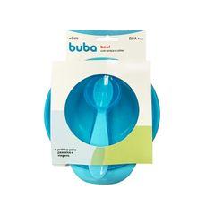 kit-prato-bowl-com-tampa-e-colher-300ml-azul-buba